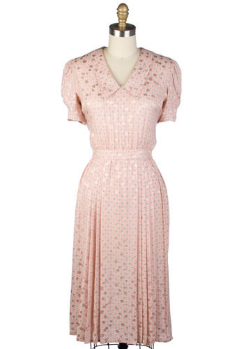 Vintage Pink Caviar Dress