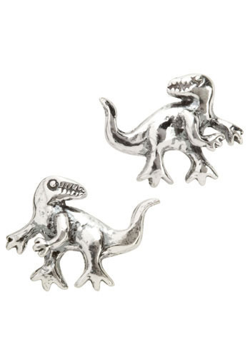 Allosaurus Earrings - Silver, Casual