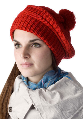 Pretty Poppy Knit Hat