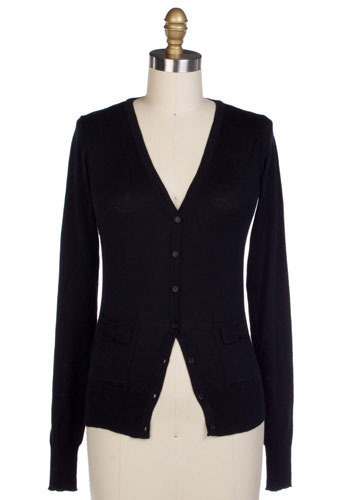 The Shy Cardigan in Black - Short
