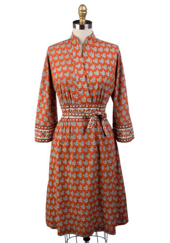 Vintage Paisley Party Dress