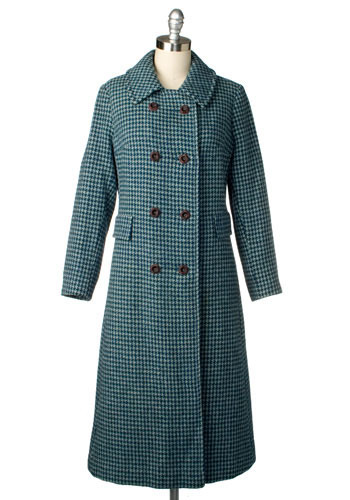 Vintage Winter Houndstooth Coat