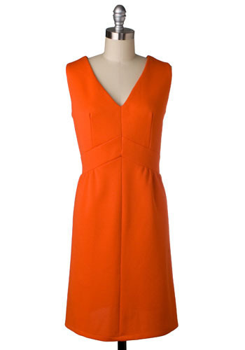 Vintage Sweet Orange Dress