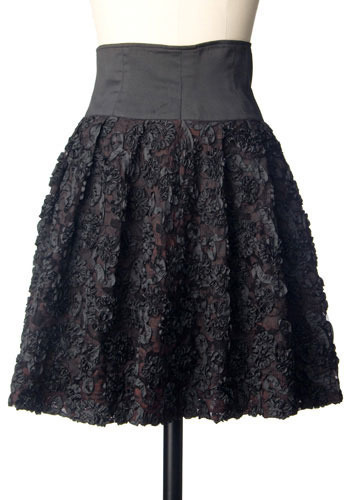 Vintage Black Roses Skirt