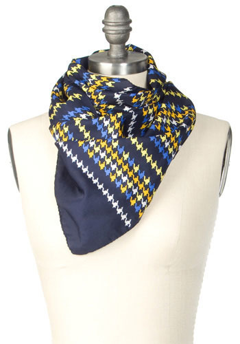 Vintage Pixelated Print Scarf