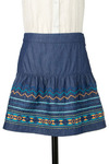 Sedona Nights Skirt in Azure - Short