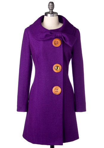 Amber Road Coat in Violet - Long