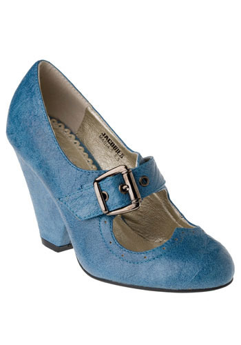 Stone Cold Mary Janes in Cobalt