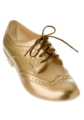 Melissa Wingtips in Gold Token