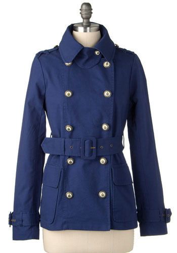 In The Navy Jacket by BB Dakota - Mid-length