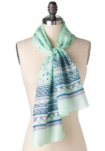 Vintage Day At The Beach Scarf