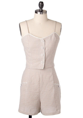 Vintage Gingham Summer Set