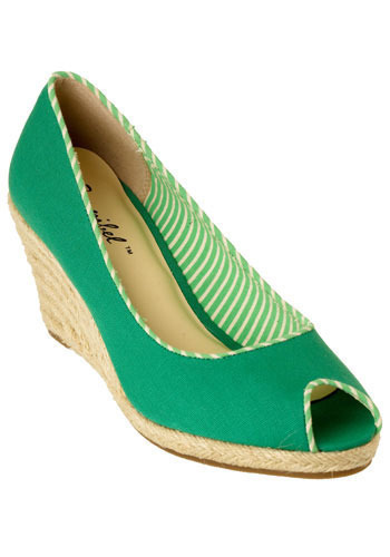 Santa Monica Pier Wedges in Palm - Wedge