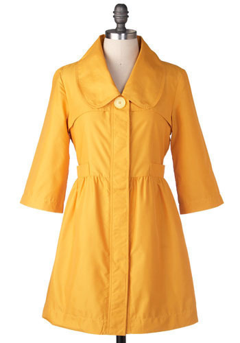 Marigold Raincoat by Tulle Clothing - Long