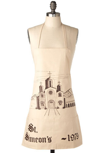 Vintage Kiss The Monk Apron