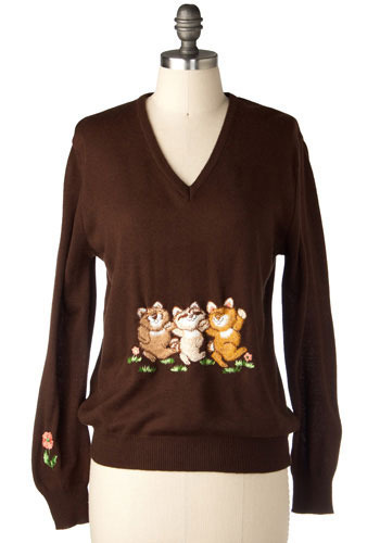 Vintage Furry Friends Sweater