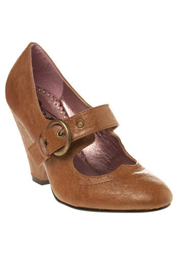 Stone Cold Mary Janes in Camel