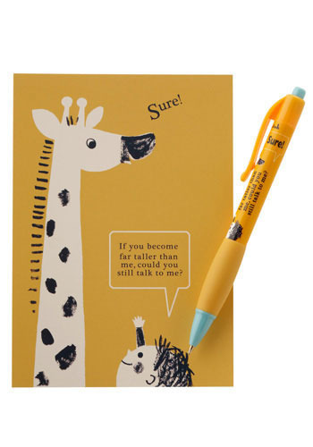 Pen n' Pals Set with Giraffe by Shinzi Katoh