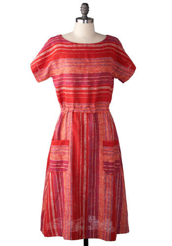 Vintage Sunset On The Pier Dress