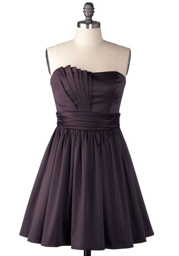 Dancing in Manhattan Dress in Plum - Short
