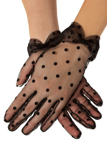 Girly Girl Gloves in Black