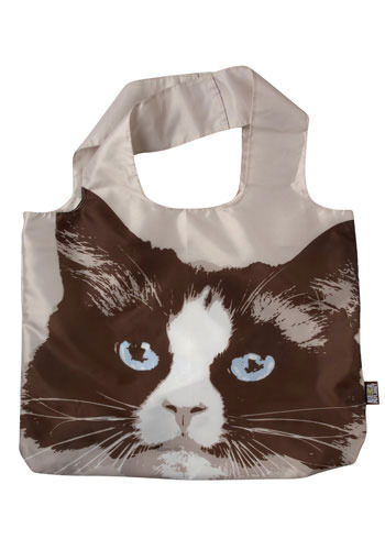 Cute Finds Fold-Up Bag - Brown, Print with Animals