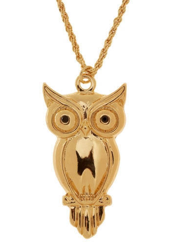 Not Your Average Owl Pendant - Gold, Braided, Chain, Owls