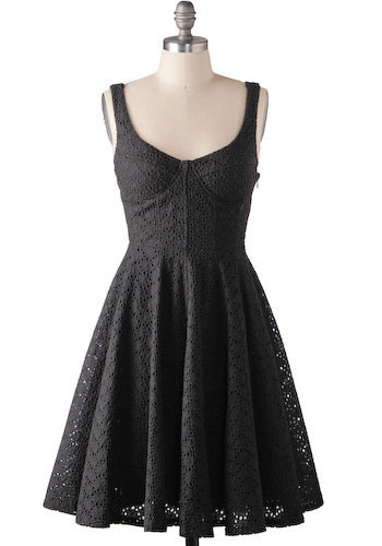 The Breathless Dress in Midnight - Mid-length