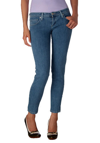 Hey Ho Let's Bow Ankle Jeans - Mid-length