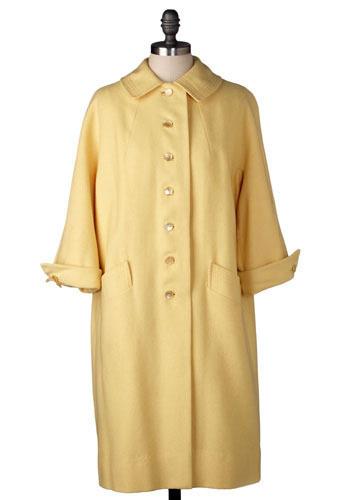 Vintage Buttercup Coat