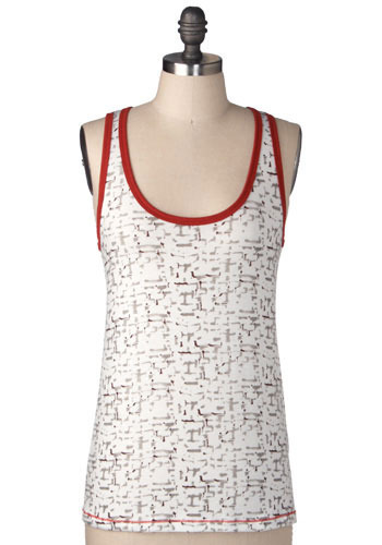 *** Brick Wall Tank Top - Mid-length