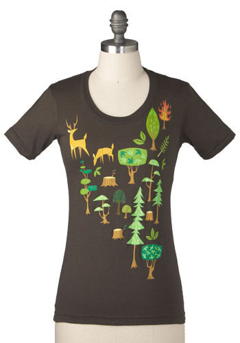 Save Our Forest Tee by Gama-Go - Mid-length