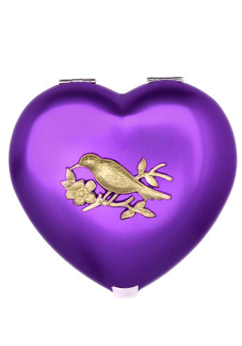 Enchanted Compact Mirror in Sparrow - Red, Purple