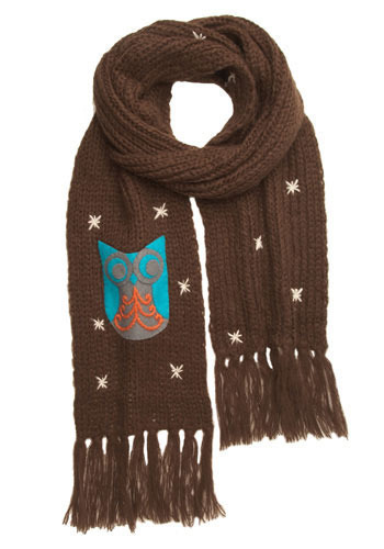Owl Through the Night Scarf by Wooden Ships