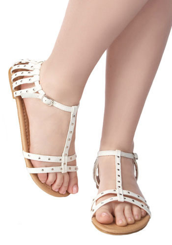 *** Punk Picket Fence Sandals