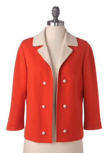 Vintage Orange Zest Blazer