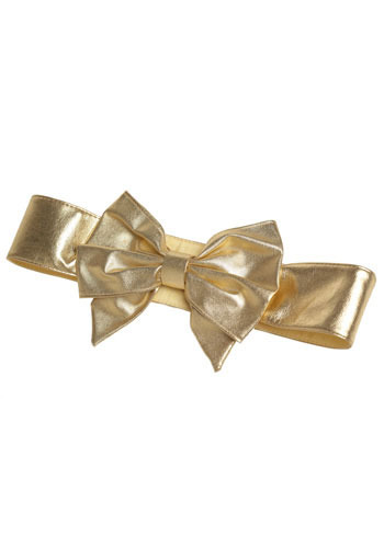 Vintage Golden Bow Belt