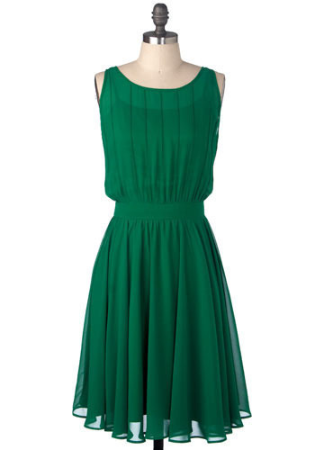 Grecian Green Dress - Long