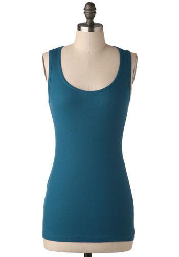 Best Friend Tank in Cerulean - Mid-length