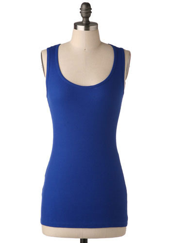 Best Friend Tank in Cobalt - Mid-length