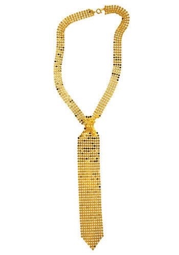 Gold Tie Affair Necklace