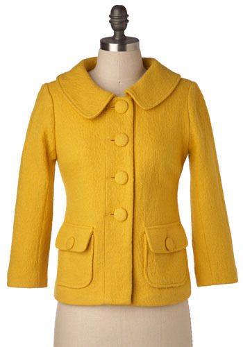 Saffron Sophisticate Coat by BB Dakota - Mid-length