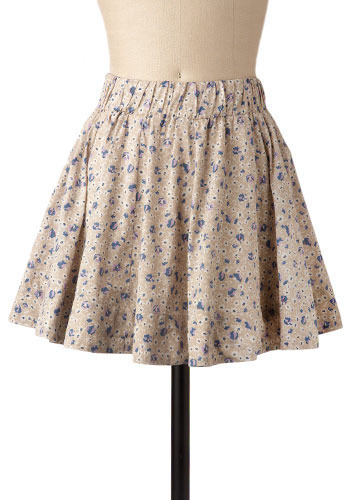 Greenhouse Skirt In Lilac - Short