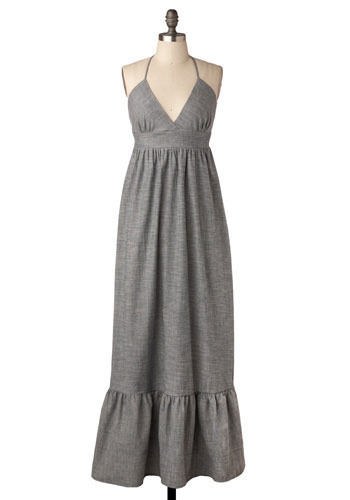*** Lady Grey Maxi Dress - Long