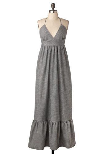 Lady grey maxi dress mod retro vintage dresses modcloth com