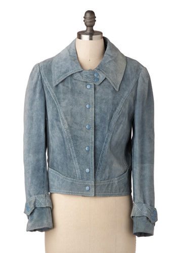 Vintage Blue Suede Jacket