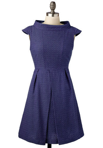 Dress Side Story in Indigo by Tulle Clothing - Short