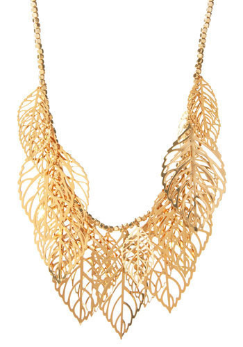Golden Laurels Necklace