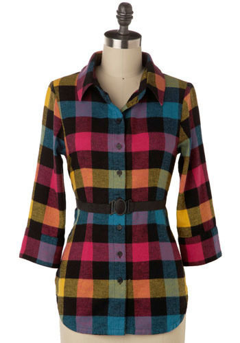 Color Wheel Shirt by Jack by BB Dakota - Mid-length