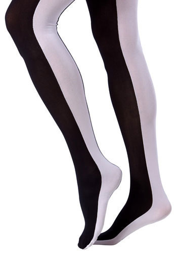 Flipside Tights in Opposites by Look From London